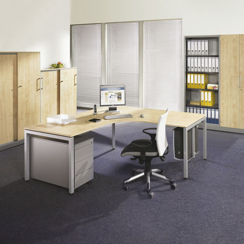 contemporary work table / HPL / rectangular / for public buildings