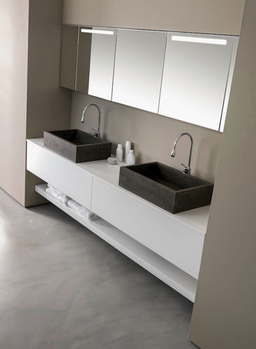 double washbasin cabinet