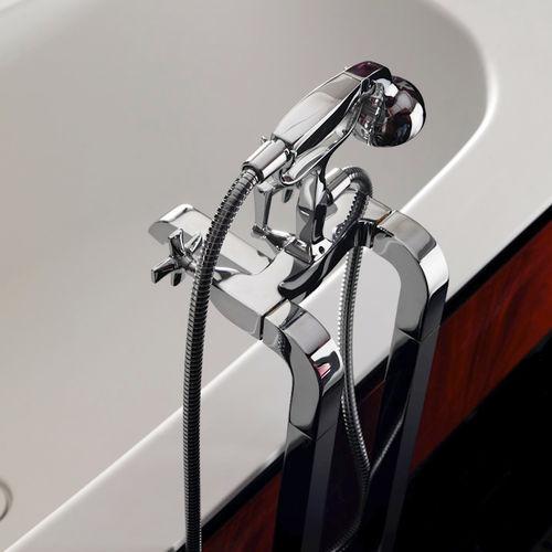 double-handle bathtub mixer tap