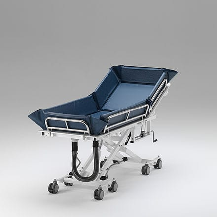 handicapped shower trolley