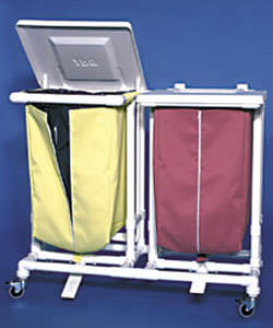 linen trolley / for healthcare facilities / plastic