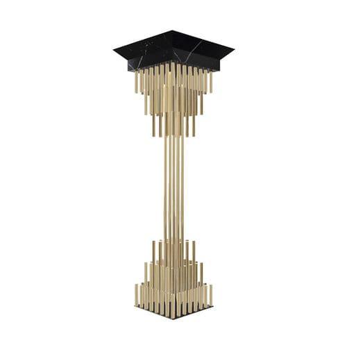 gold-plated brass column