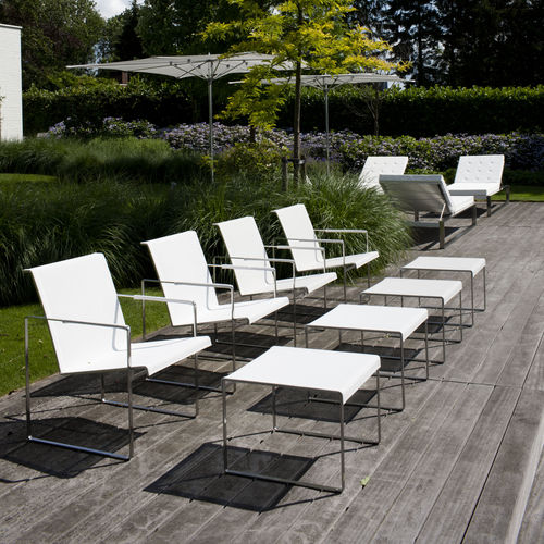 contemporary footrest / stainless steel / garden / contract