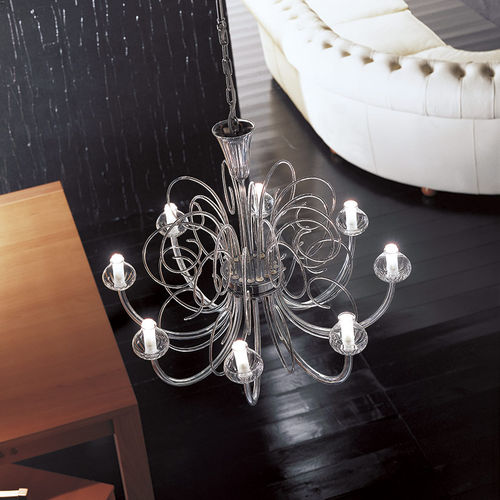 traditional chandelier / crystal / incandescent