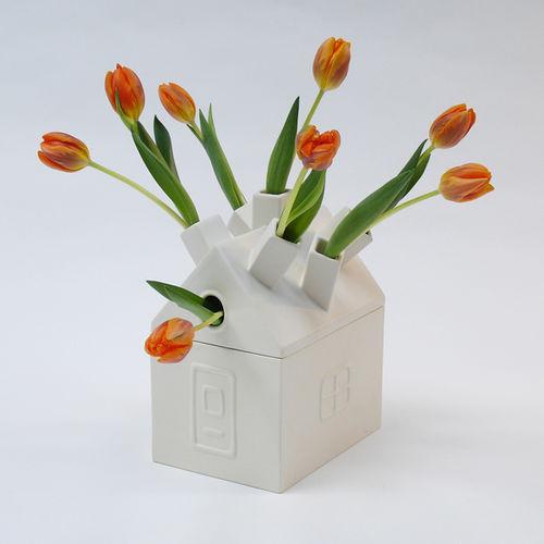 original design vase / ceramic / wooden