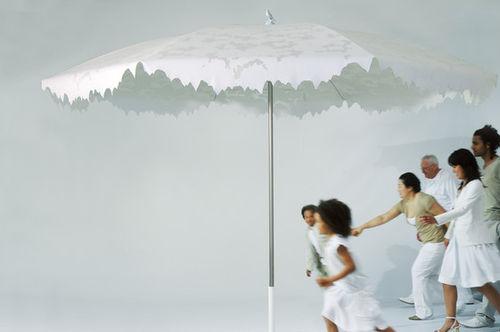 aluminum patio umbrella / polyester