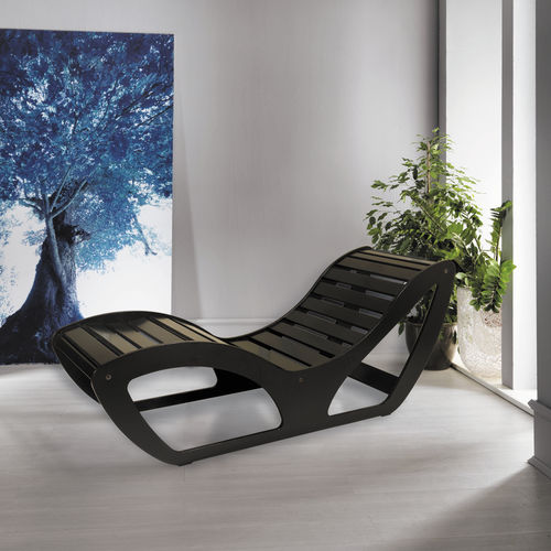 contemporary chaise longue / wooden / for wellness center / for public buildings