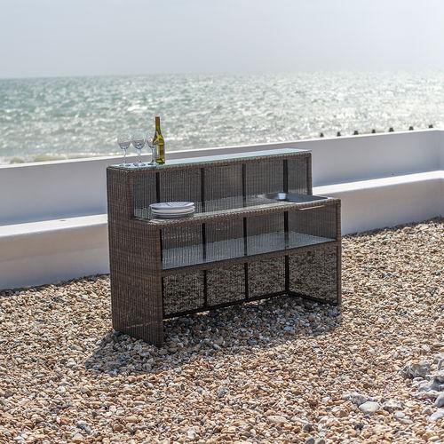 commercial bar cabinet / contemporary / glass / aluminum