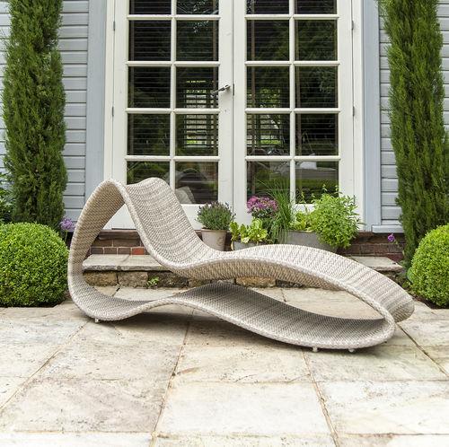 contemporary sun lounger / synthetic fiber / garden / commercial