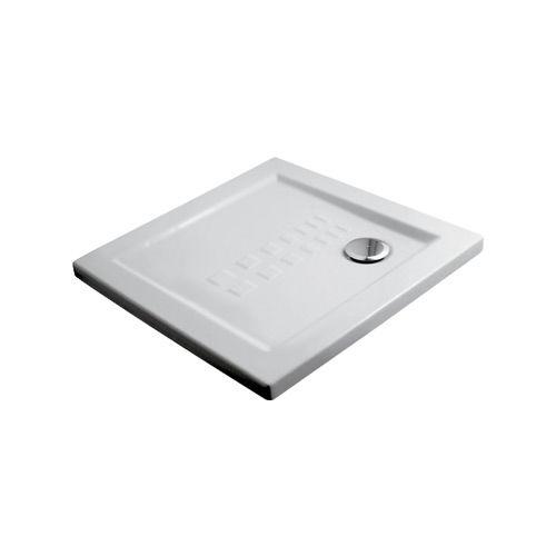 square shower base / floor level / ceramic