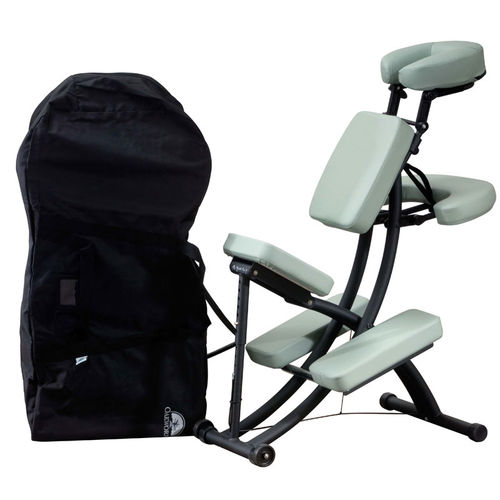 metal massage chair / synthetic leather / folding