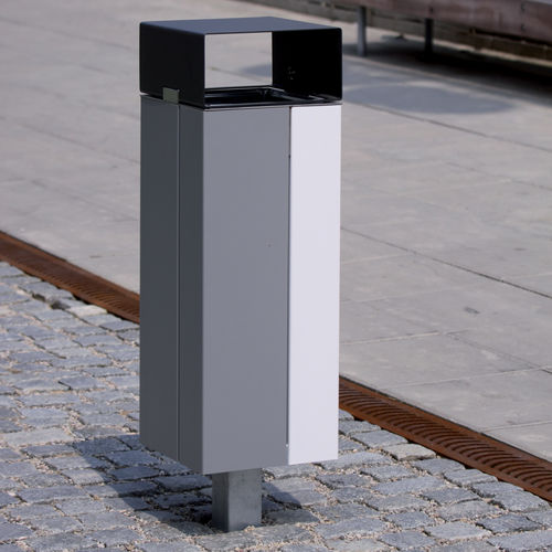 floor-mounted litter bin