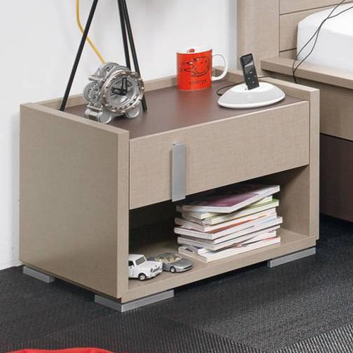 contemporary bedside table / particle board / melamine / polypropylene