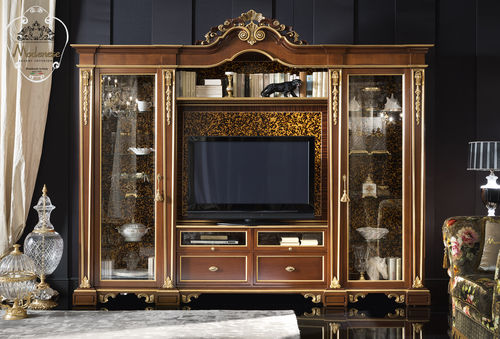 classic display case / solid wood / for hotel / for office