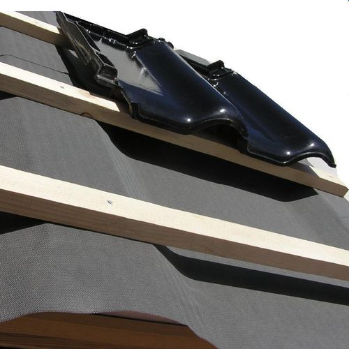 thermal insulation / expanded polystyrene / for ventilated roofs / rigid panel