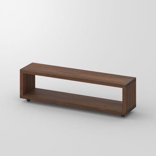 contemporary bedside table / oak / walnut / solid wood