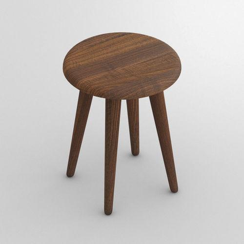 contemporary stool / oak / solid wood / beech