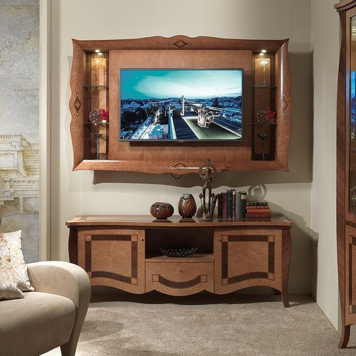 traditional TV wall unit / wooden