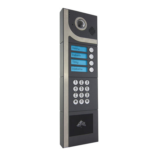 door station with camera / hands-free / vandal-proof / wireless