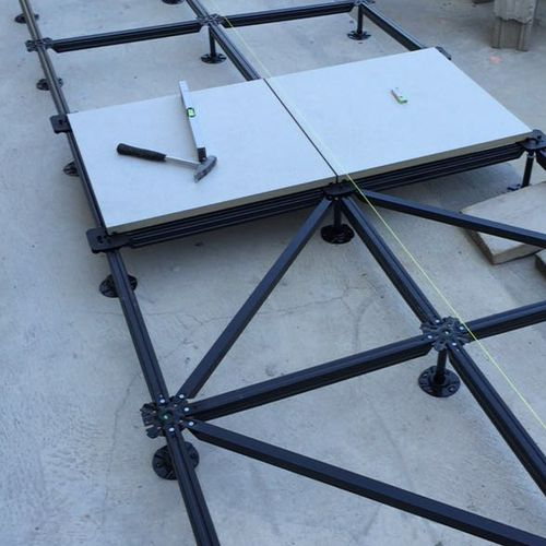 steel raised access floor structure / high-resistance / anti-seismic / outdoor