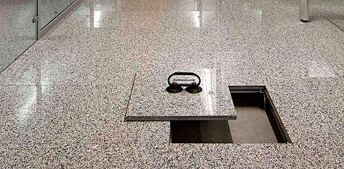 marble raised access floor / indoor