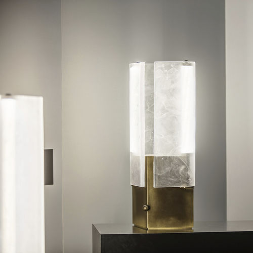 table lamp / contemporary / glass