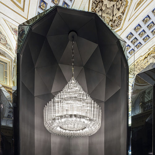 contemporary chandelier / glass