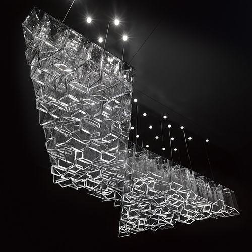 contemporary chandelier / blown glass