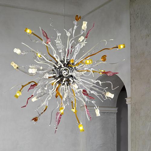 original design chandelier / glass
