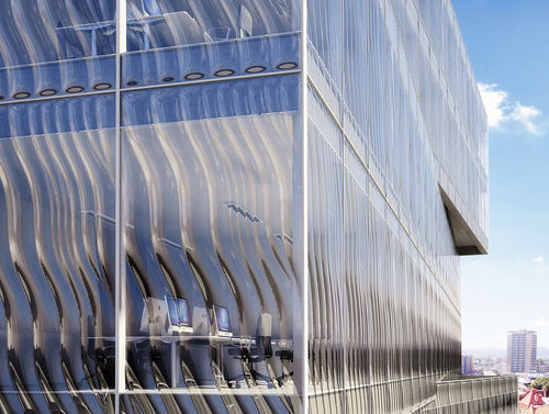 glass cladding / textured / panel