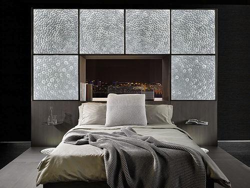 patterned glass panel / building / flat / translucent