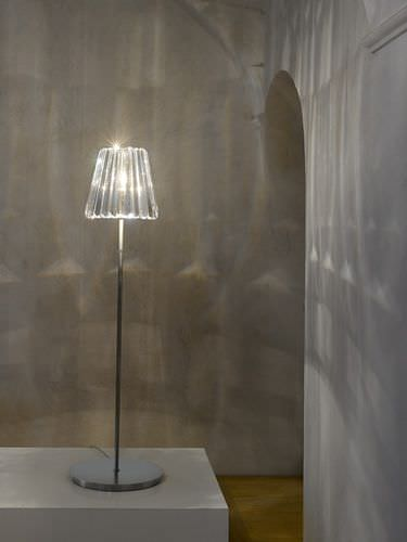 floor-standing lamp / contemporary / crystal