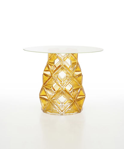 contemporary table / crystal / round / by Michael Young