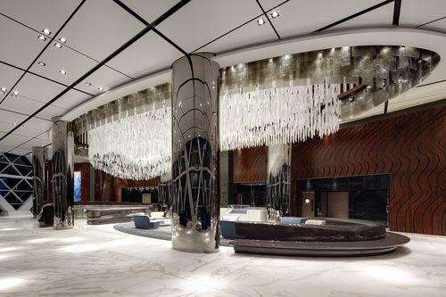 original design ceiling light / glass / stainless steel / LED