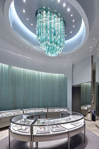 contemporary chandelier / glass / stainless steel / LED