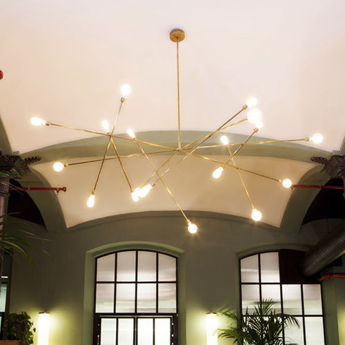 minimalist design chandelier / brass / steel / incandescent