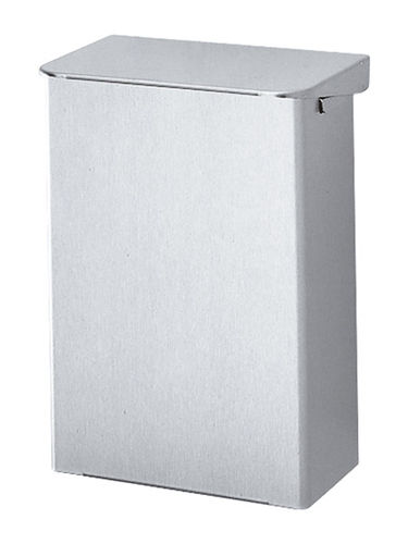 hygienic trash can / metal / contemporary