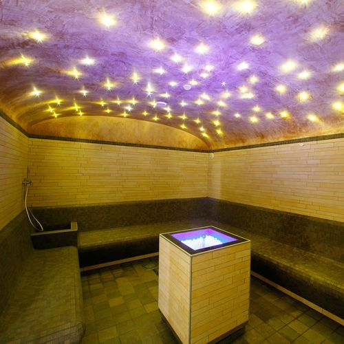 steam room with shower included