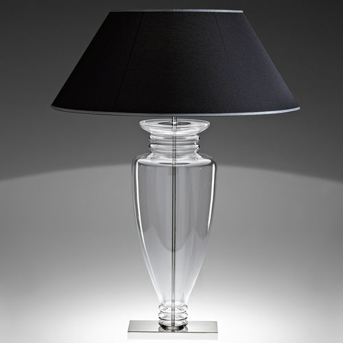 table lamp / contemporary / glass / fabric