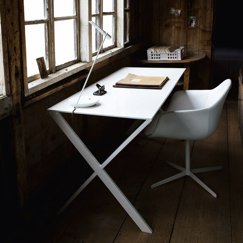contemporary work table / lacquered aluminum / rectangular / by Studio Nendo