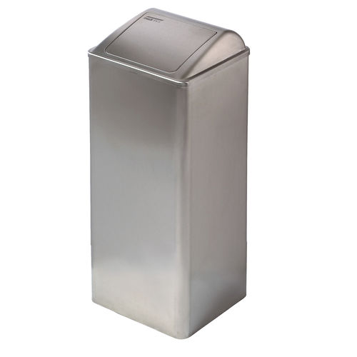 hygienic trash can / stainless steel / swing / contemporary