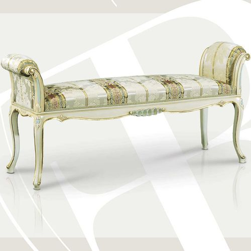 Louis XVI style upholstered bench / fabric