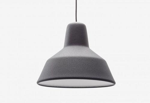 pendant lamp / contemporary / PVC / brown