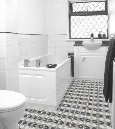 indoor tile / bathroom / floor / cement