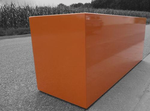 fiber cement planter / rectangular / custom / contemporary