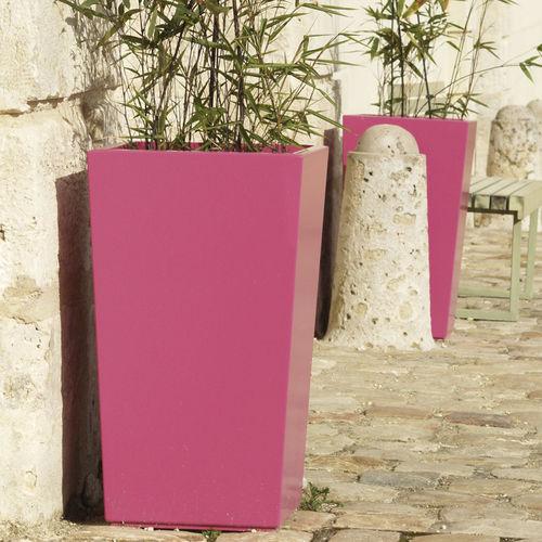 fiber cement planter / square / custom / wheeled