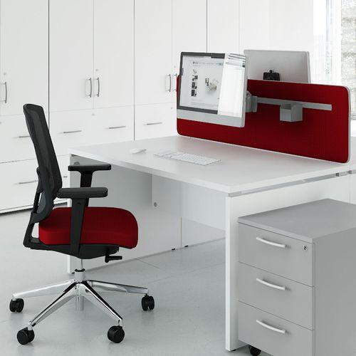 workstation desk / powder-coated steel / melamine / contemporary