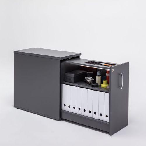 melamine office unit / 1-drawer / modular