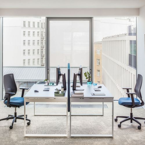 wooden desk / aluminum / contemporary / commercial
