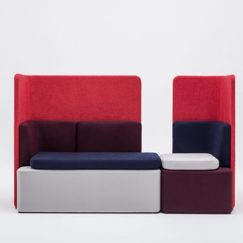modular sofa / contemporary / for reception areas / fabric